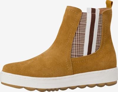 JANA Chelsea boots in de kleur Bruin / Goudgeel / Wit, Productweergave