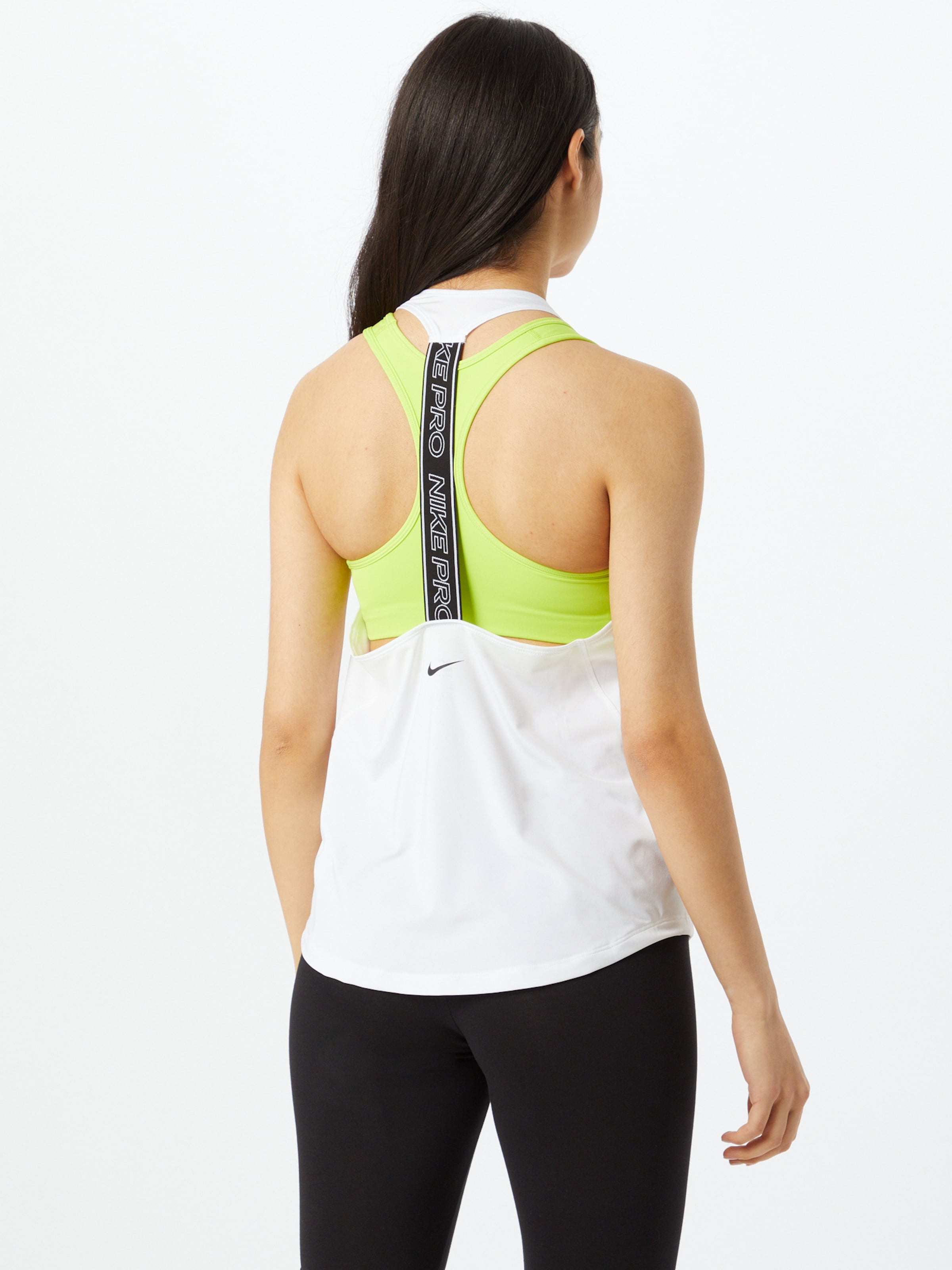 NIKE Sporttopp 'Nike Pro' i svart / vit