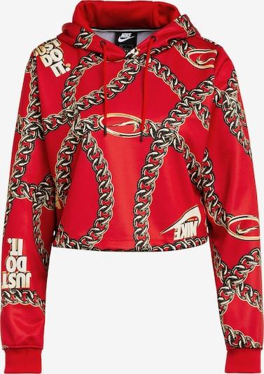 NIKE Hoodie ' Cropped-Hoodie CLASH ' in rot, Produktansicht