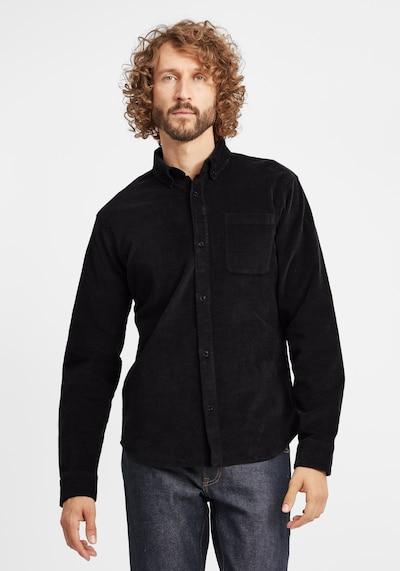 BLEND Hemd 'Clody' in schwarz: Frontalansicht
