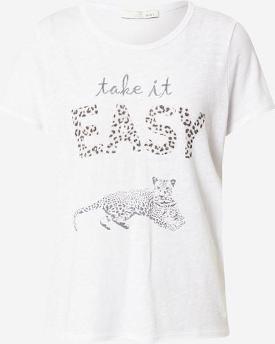 OUI Camiseta en beige / negro / blanco, Vista del producto