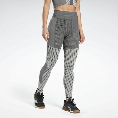 Reebok Sport Leggings in dunkelgrau, Modelansicht
