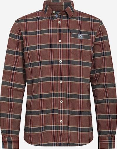TOM TAILOR Overhemd in de kleur Lichtgrijs / Donkergrijs / Pastelrood, Productweergave
