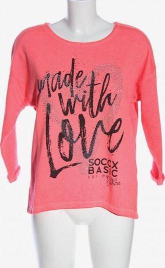 Soccx Sweatshirt in S in pink / schwarz, Produktansicht