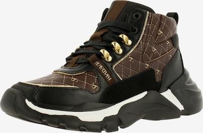 Supertrash Sneaker 'DIJAN MID' in braun / schwarz, Produktansicht
