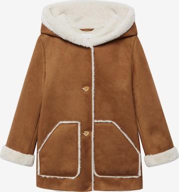 Manteau 'Juliana' MANGO KIDS en marron