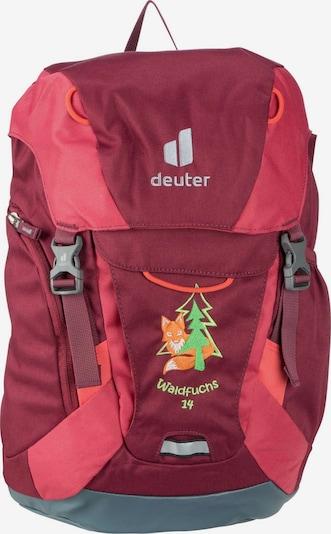 DEUTER Rucksack 'Waldfuchs 14' in hellgrün / neonorange / pink / bordeaux / kirschrot, Produktansicht