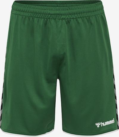Hummel Shorts 'Poly' in basaltgrau / grasgrün / schwarz, Produktansicht