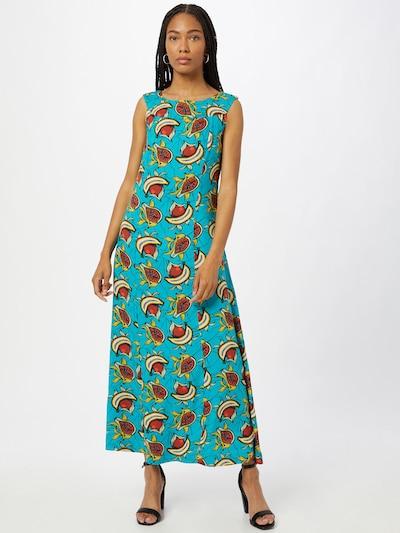 Blutsgeschwister Kleid in türkis / gelb / rostrot / weiß, Modelansicht