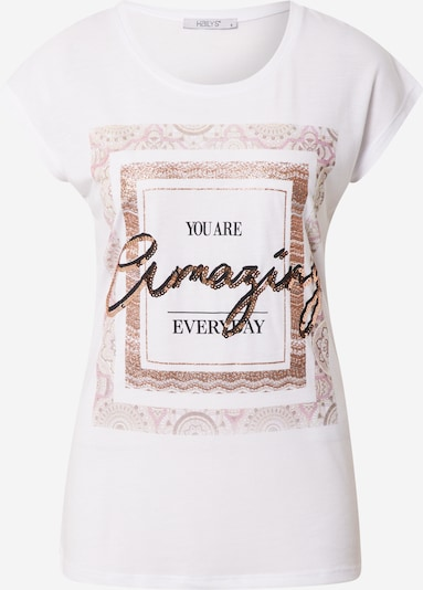 Hailys T-shirt 'Runa' en or / rose clair / noir / blanc, Vue avec produit