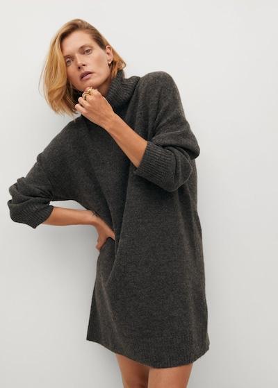 MANGO Kleid 'Taldora' in dunkelgrau, Modelansicht