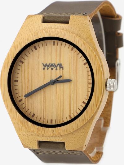 Wave Hawaii Montre à affichage analogique ' Bambus/Leder ' en beige, Vue avec produit