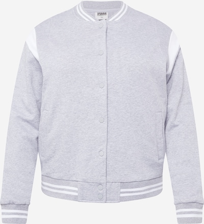 Urban Classics Curvy Veste mi-saison en gris / blanc, Vue avec produit