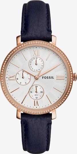 FOSSIL Uhr in nachtblau / rosegold / weiß: Frontalansicht