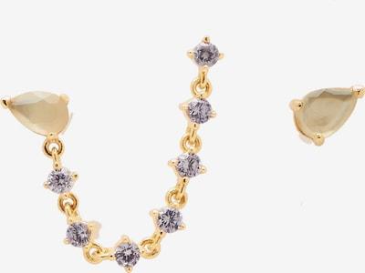 P D PAOLA Earrings 'Joanne' in Gold / Lavender, Item view