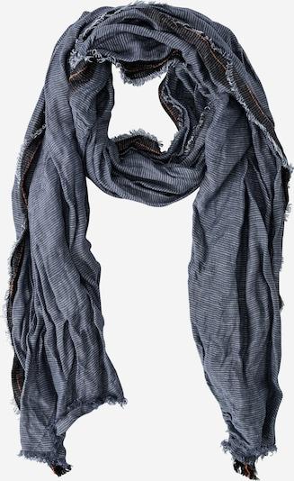 CAMEL ACTIVE Schal in taubenblau / schwarz / weiß, Produktansicht