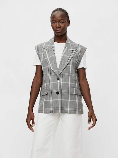 OBJECT Suit Vest 'Penny' in Grey / Black / White, View model