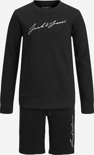 Jack & Jones Junior Jungen zweiteilig Sweat Trainingsanzug in schwarz, Produktansicht