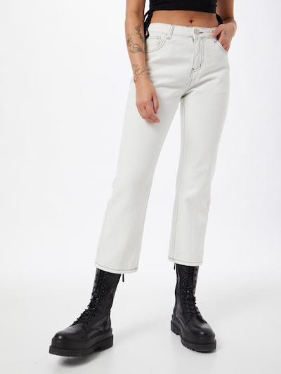GLAMOROUS Jean en blanc denim, Vue avec modèle