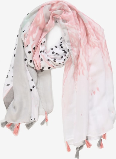 Emma & Kelly Schal mit buntem Print in mischfarben, Produktansicht