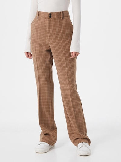 Noa Noa Kalhoty s puky - hnědá / bílá, Model/ka