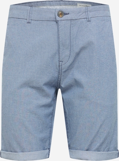 TOM TAILOR DENIM Shorts in rauchblau / taubenblau / weiß, Produktansicht