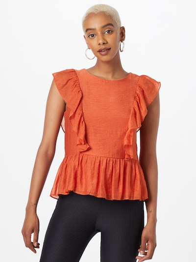 VILA Bluse 'Tier' in orange, Modelansicht