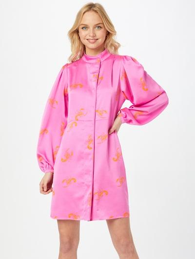 Crās Kleid 'Lavacras' in orange / pink, Modelansicht
