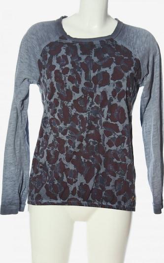 squesto Langarm-Bluse in S in braun / hellgrau, Produktansicht