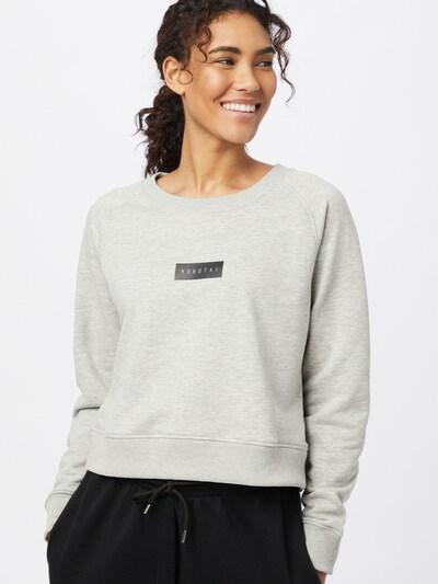 MOROTAI Sweatshirt in hellgrau / schwarz: Frontalansicht