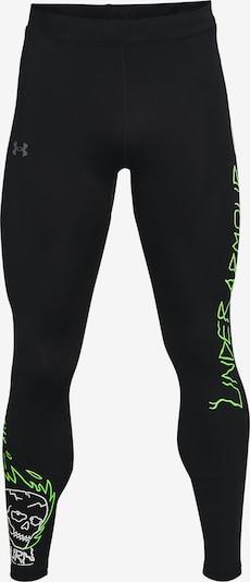 UNDER ARMOUR Sporthose in neongelb / schwarz / weiß, Produktansicht