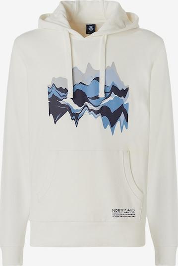 North Sails Bedrucktes Sweatshirt in weiß, Produktansicht