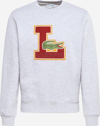 LACOSTE Sweat-shirt en jaune / gris clair / vert / rouge, Vue avec produit