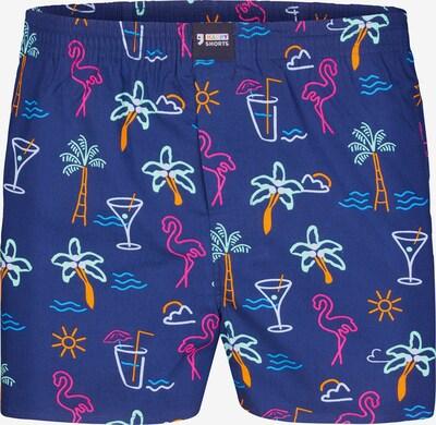 Happy Shorts Boxershorts ' Motive ' in blau, Produktansicht