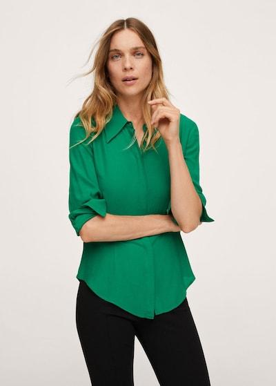 MANGO Hemd 'seven' in grün, Modelansicht