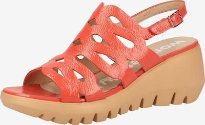Wonders Sandalen met riem in de kleur Koraal, Productweergave
