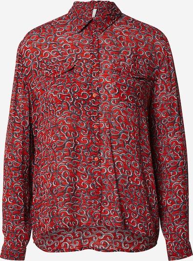 Pepe Jeans Blouse 'CAMELIA' in de kleur Blauw / Rood / Wit, Productweergave