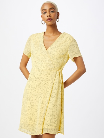MOSS COPENHAGEN Kleid 'Linoa' in gelb / schwarz, Modelansicht