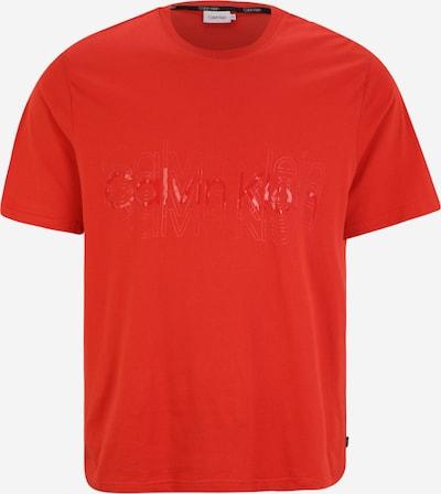 Calvin Klein Big & Tall T-Shirt en rouge, Vue avec produit