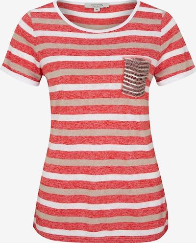 Ci comma casual identity Shirt in hellbeige / mischfarben / grenadine / weiß, Produktansicht