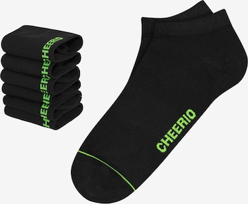 CHEERIO* Socks 'SNEAKER PAL 6P' in Black