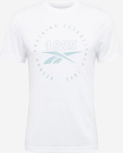 Reebok Sport T-Shirt fonctionnel en bleu pastel / blanc, Vue avec produit