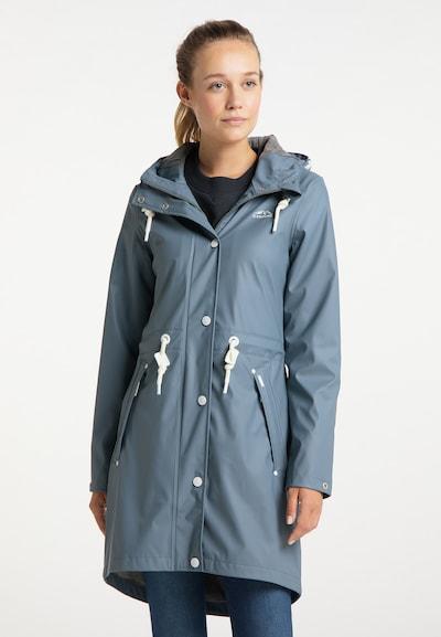 ICEBOUND Regenmantel in taubenblau / weiß, Modelansicht