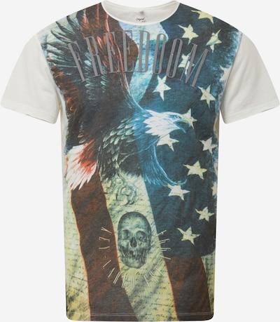 Key Largo Shirt 'FLIGHT' in nachtblau / pastellgelb / dunkelorange / dunkelrot / offwhite, Produktansicht