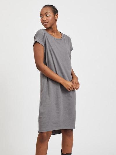 VILA Kleid 'Dreamers' in rauchgrau, Modelansicht