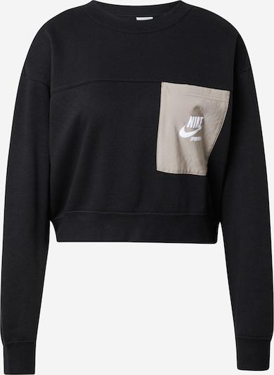 Nike Sportswear Sweatshirt in Beige / Black / White, Item view