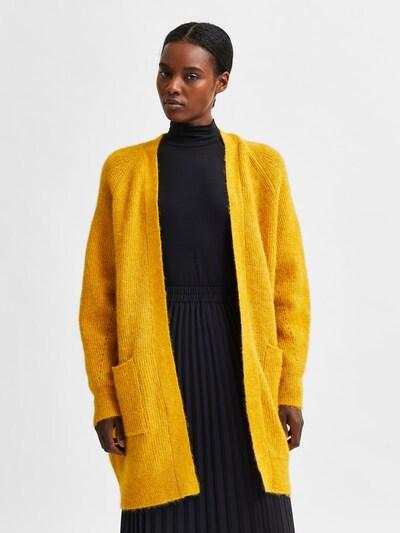 SELECTED FEMME Strickjacke 'Lulu' in gelb, Modelansicht