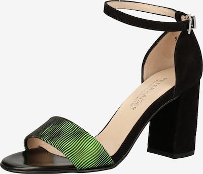 PETER KAISER Sandale in hellgrün / schwarz, Produktansicht