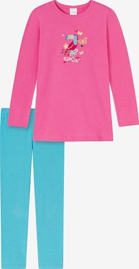 SCHIESSER Nachtkledij in de kleur Cyaan blauw / Gemengde kleuren / Pink, Productweergave