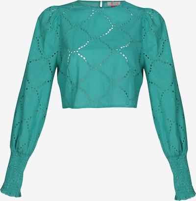Bluză IZIA pe albastru pastel, Vizualizare produs